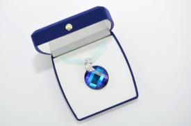 Twist Pendant, Bermuda Blue, 28 mm