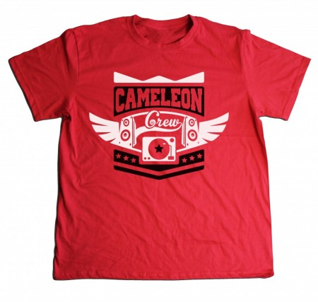 Cameleon White-Black-Red [tricou]