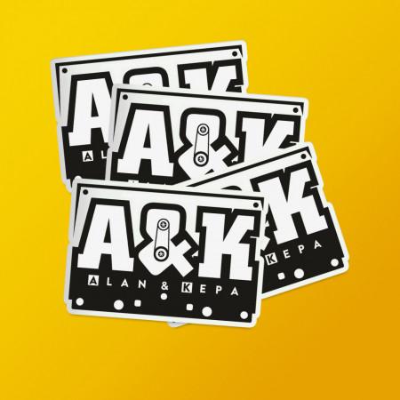 "Pack stickere ""Alan&Kepa"""
