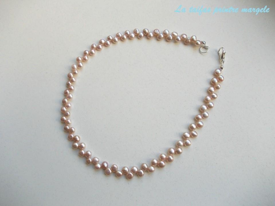 36afeb7c2396 Collar perlas naturales de cultura espiga lila imágenes