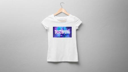 """Tricou damă """"Descoperă"""""""