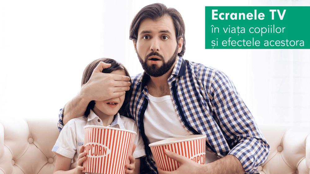 Ecranele TV în viața copiilor și efectele acestora