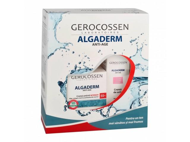 Set cadou Algaderm Crema antirid intensiv 55+ si Crema ochi