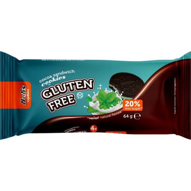 Biscuiti fara gluten cu aroma de menta Bob Foods - 64 g