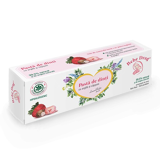 Bebe Drag Pasta de Dinti cu Argila si Capsuni - 50 ml