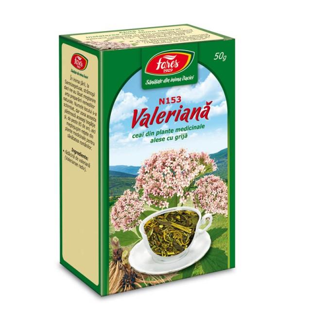 Ceai Valeriana - Radacina N153 - 50 gr Fares