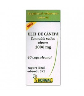 Ulei de Canepa 1000 mg 40cps Hofigal