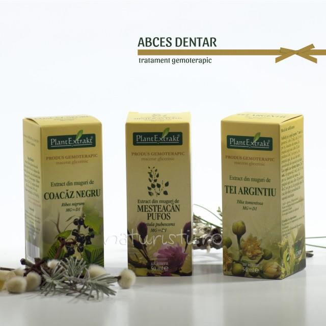 Tratament naturist - Abces dentar (pachet)