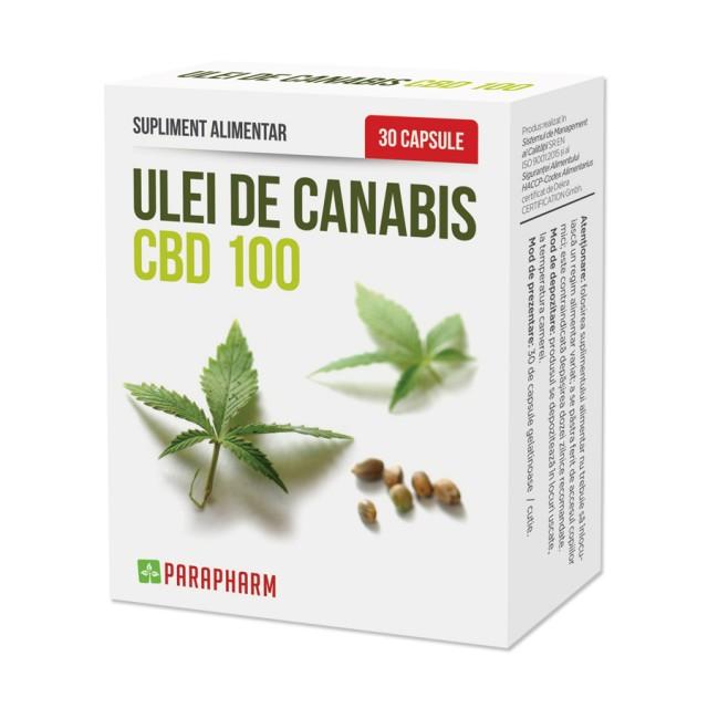 Ulei de canabis CBD 100 - 30 cps