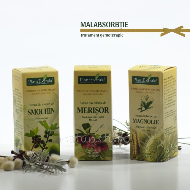 Tratament naturist - Malabsorbtie (pachet)