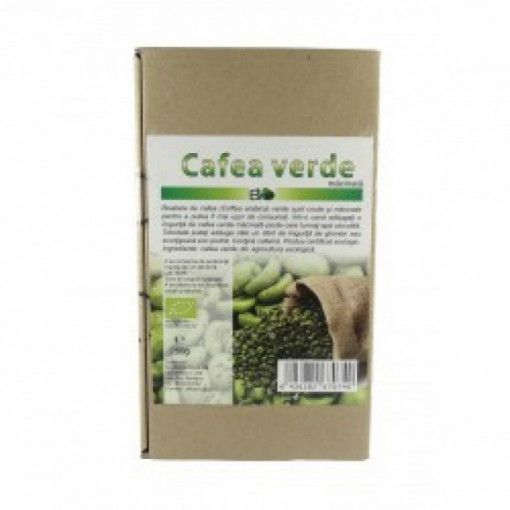 Cafea verde macinata cu cafeina BIO - 250 g