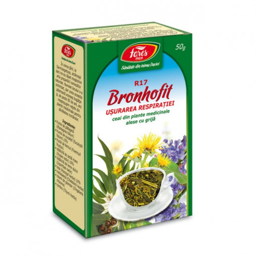 Ceai Bronhofit usurarea respiratiei R17 - 50 g Fares