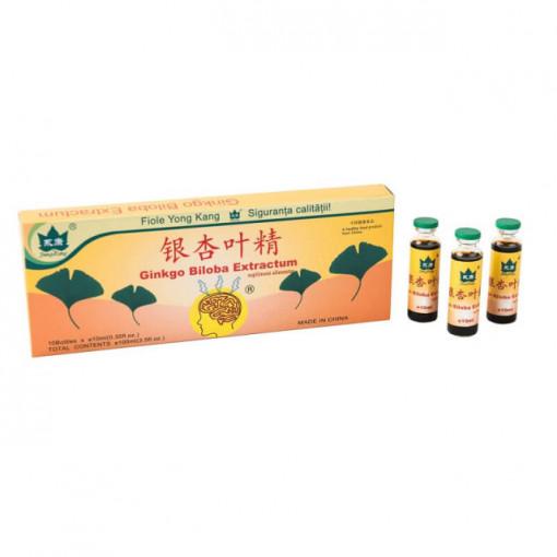 Ginkgo Biloba 10 fiole * 10 ml Yong Kang