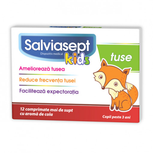 Salviasept Kids Tuse - 12 cpr