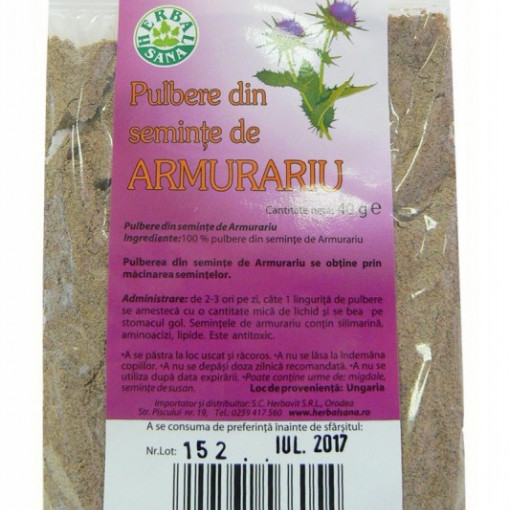 Armurariu pulbere - 40 g Herbavit