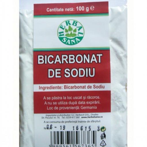 Bicarbonat de sodiu - 100 g Herbavit