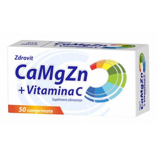 Ca + Mg + Zn + Vitamina C - 50 cpr