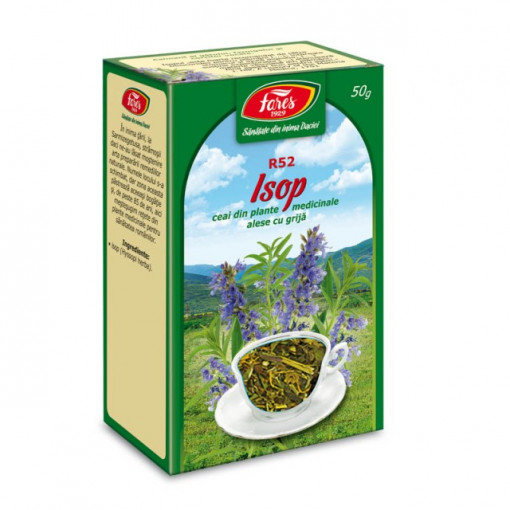 Ceai Isop - Iarba R52 - 50 gr Fares