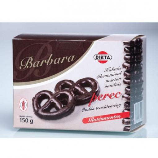 Covrigei cu vanilie in glazura de ciocolata - 150g - Barbara