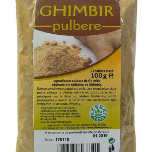 Ghimbir pulbere - 100 g Herbavit