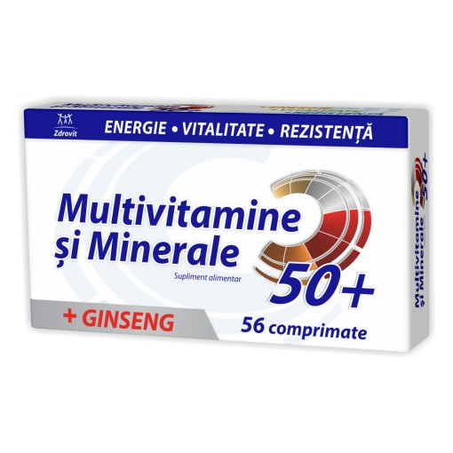 Poze Multivitamine + Minerale + Ginseng - 56 cpr