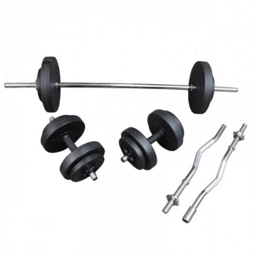Set greutati gantere si haltera 36 kg, TheWay Fitness