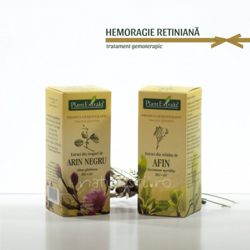 Tratament naturist - Hemoragie retiniana (pachet)