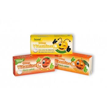 Vitamina C cu aroma de Capsuni 100 mg - 20 cpr Bioeel