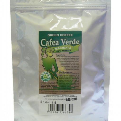 Cafea verde macinata - 250 g Herbavit