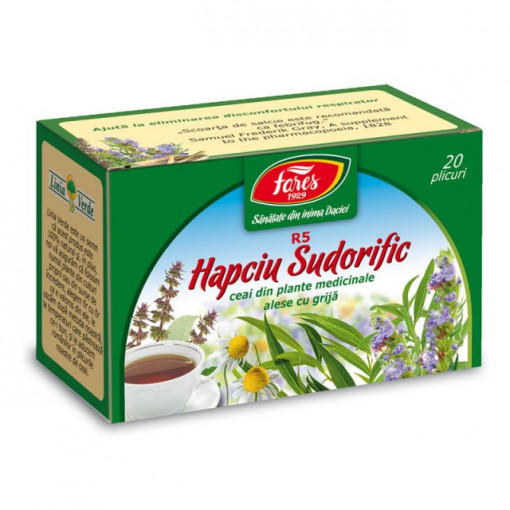 Ceai Hapciu Sudorific R5 - 20 pl Fares