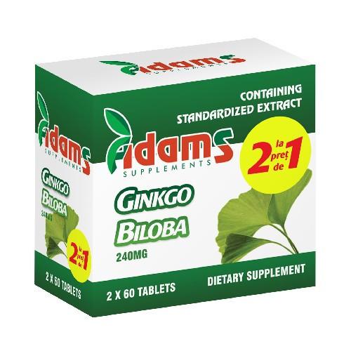 Ginkgo Biloba - 60 cps 1 + 1 Gratis
