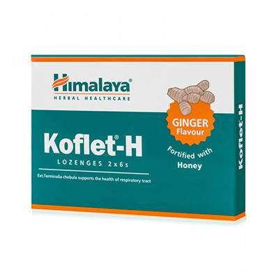 Koflet-H cu aroma de ghimbir - 12 pastile