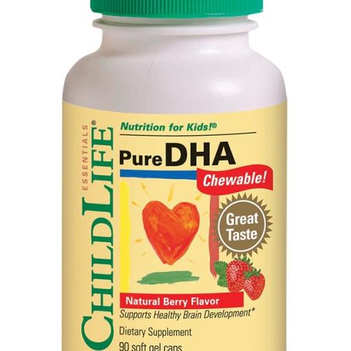Pure DHA (gust de fructe) - 90 capsule gelatinoase moi masticabile - ChildLife Essentials