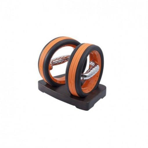 Set gantere fitness de mana culoarea portocaliu