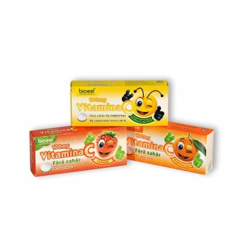Vitamina C cu aroma de Portocale 100 mg - 20 cpr Bioeel