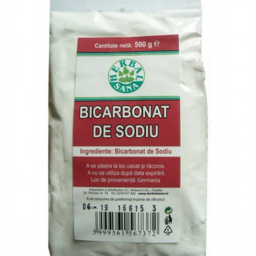 Bicarbonat de sodiu - 500 g Herbavit