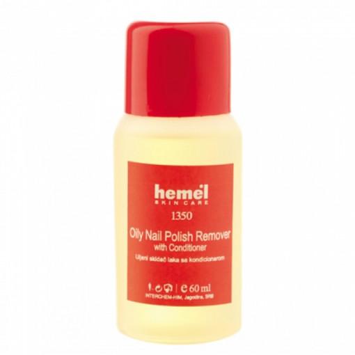 Dizolvant lac cu balsam Hemel Oly Nail Polish Remover with Conditioner 60 ml