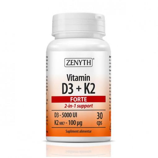 Vitamin D3 + K2 Forte - 30 cps