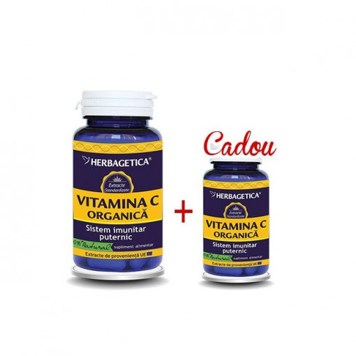 Vitamina C Organica 60 cps + 10 cps Gratis