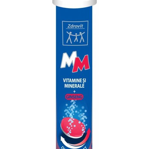 Vitamine si minerale + Ginseng - 24 cpr efervescente