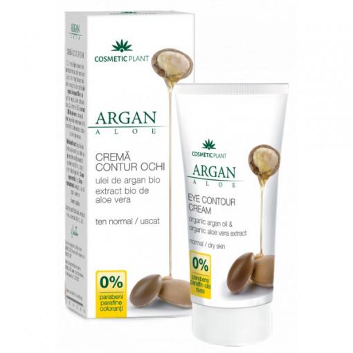 Crema contur ochi cu ulei de argan bio si extract bio de aloe vera - 30 ml