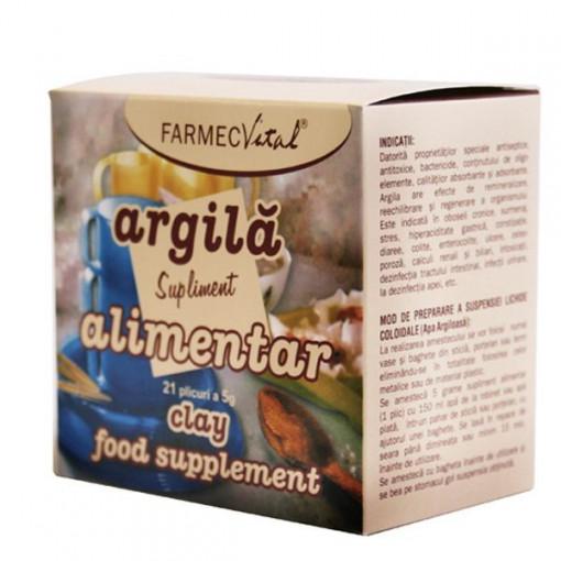 Farmec Vital-Argila supliment nutritiv