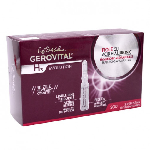 Fiole cu acid hialuronic - Gerovital H3 Evolution