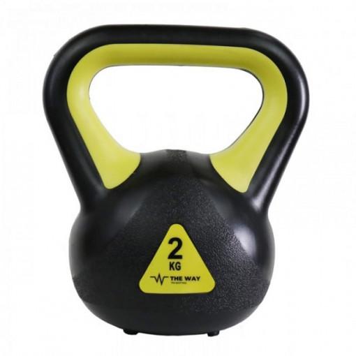 Gantere Kettlebell, 2 kg, Vinil, TheWay Fitness