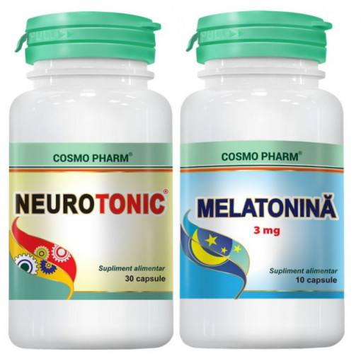 Poze Neurotonic - 30 cpr + Melatonina 10 cpr GRATIS