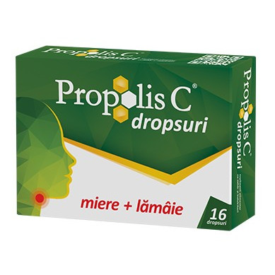 Propolis C Dropsuri - 16 buc