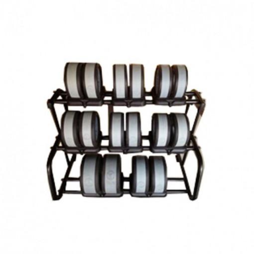 Set gantere de mana cu suport culoarea gri