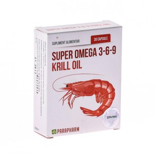 Super Omega 3-6-9 Krill Oil - 30 cps