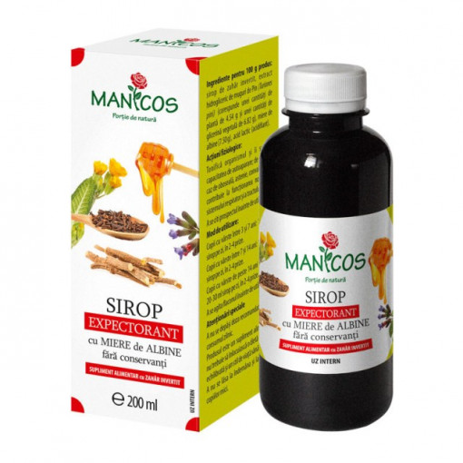 Sirop expectorant cu miere 200 ml