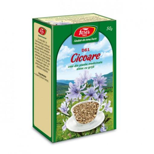 Ceai Cicoare - Iarba D61 - 50 gr Fares